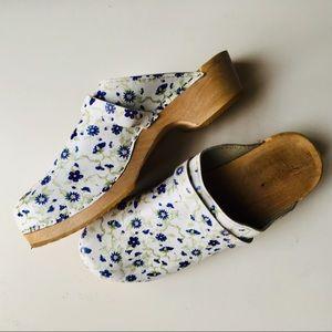 Shoes - Handmade Wooden Flower Clogs